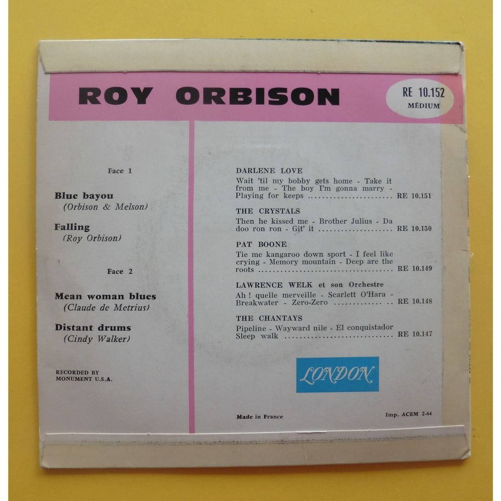 ROY ORBISON MEAN WOMAN BLUES + 3