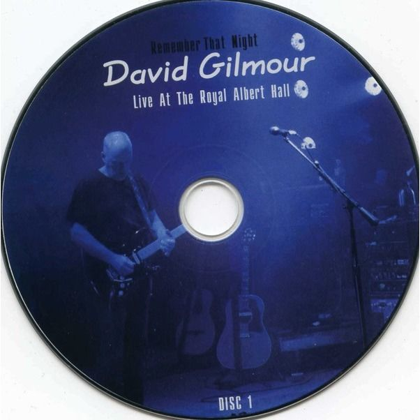 David Gilmour Remember That Night (Live At The Royal Albert Hall) (Digipak in slipcase) 2DVD