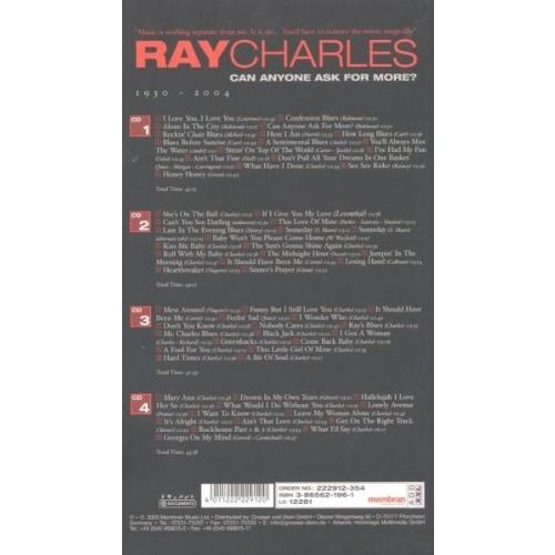 ray charles Can Anyone Ask For More? 1930 - 2004