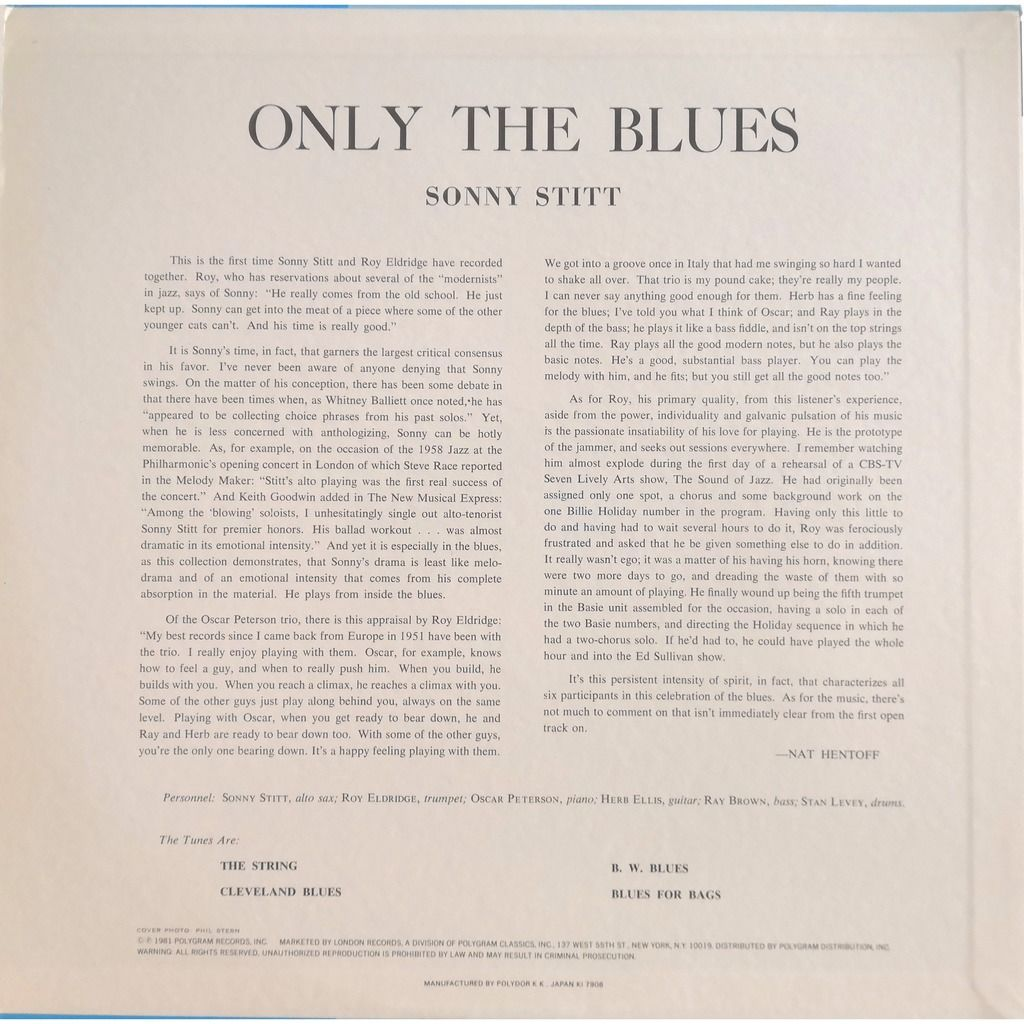 Sonny Stitt Only The Blues