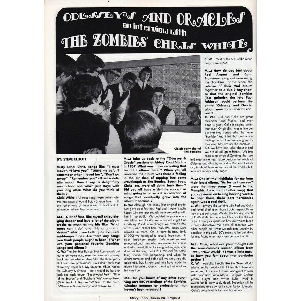 The Zombies Misty lane (N.20 2006) (Italian 2006 music magazine!)