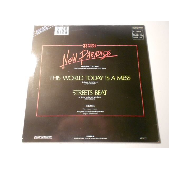 new paradise this world today is a mess / streets beat
