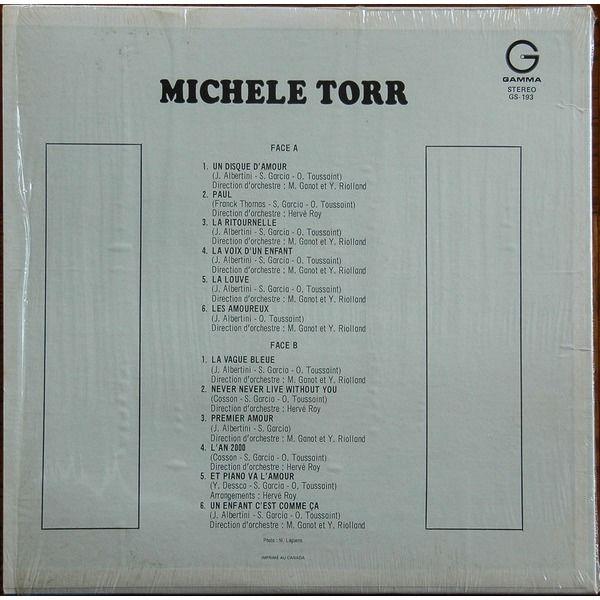 MICHELE TORR LA VAGUE BLEU , LES AMOUREUX . UN DISQUE D'AMOUR - EDITION CANADA