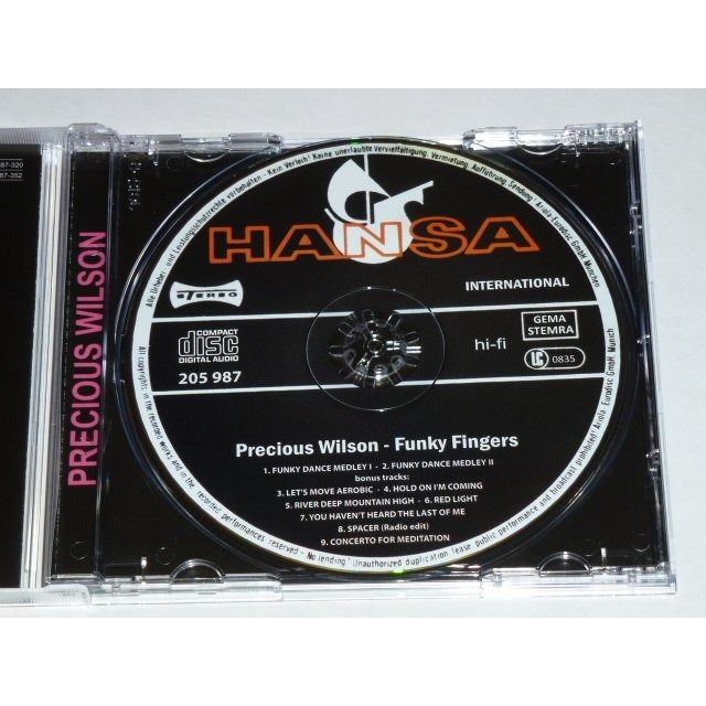 Precious Wilson & La Mama (ex-Eruption) Funky fingers + 7 bonus tracks