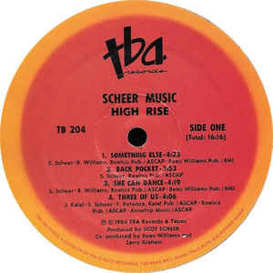 Scheer Music - High Rise (LP, Album) Scheer Music - High Rise (LP, Album)1984
