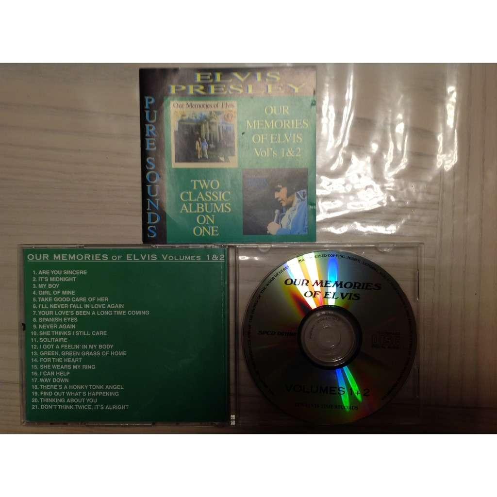 elvis presley 001 cd our memories of elvis 21 outtakes