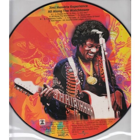 The Jimi Hendrix Experience All Along The Watchtower (South africa 2011 'Fan Club' Ltd 10-trk live 10LP Picture Disc deluxe ps)