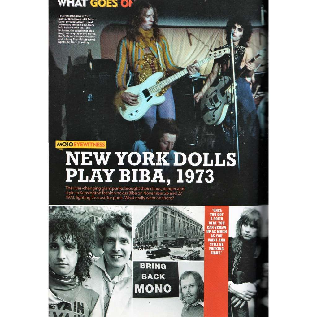 New York Dolls Mojo (N.232 March 2013) (UK 2013 music magazine!!)