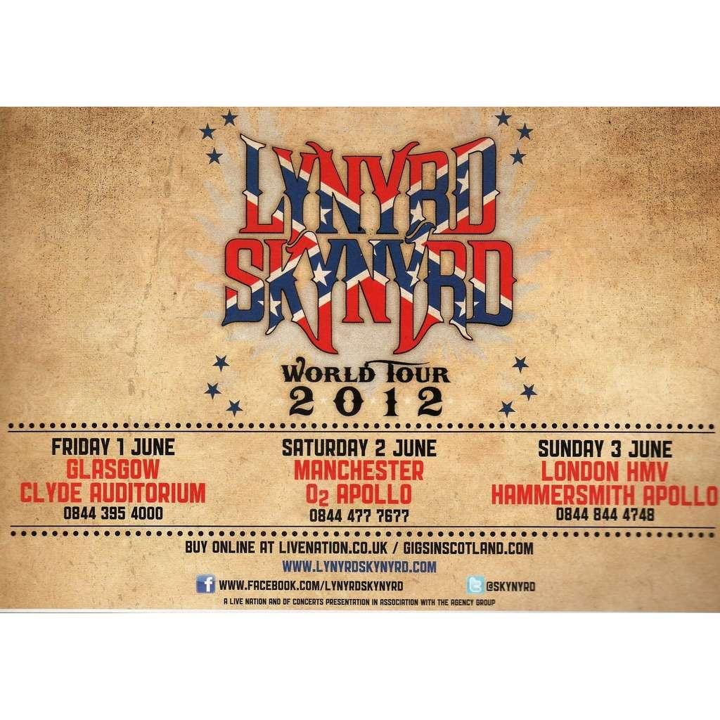 Lynyrd Skynyrd UK Tour June 2012 (UK 2012 promo type advert 'Tour dates' concert flyer!!)
