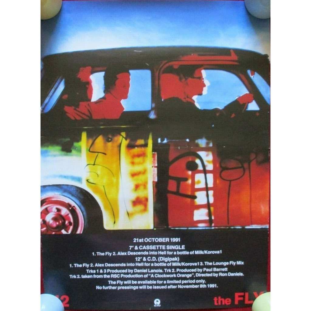 U2 The Fly (UK 1991 original 'Island' Shop Promo Advertising 'single release' Poster!!)
