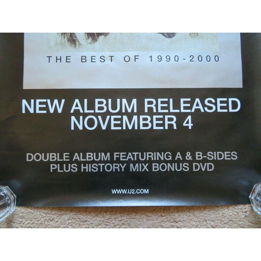 u2 The Best Of 1990 - 2000 (UK 2002 original 'Island' Shop Promo Advertising 'Album release' Poster!!)