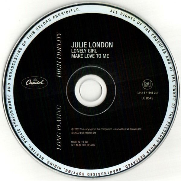 Julie London Lonely girl + Make love to Me