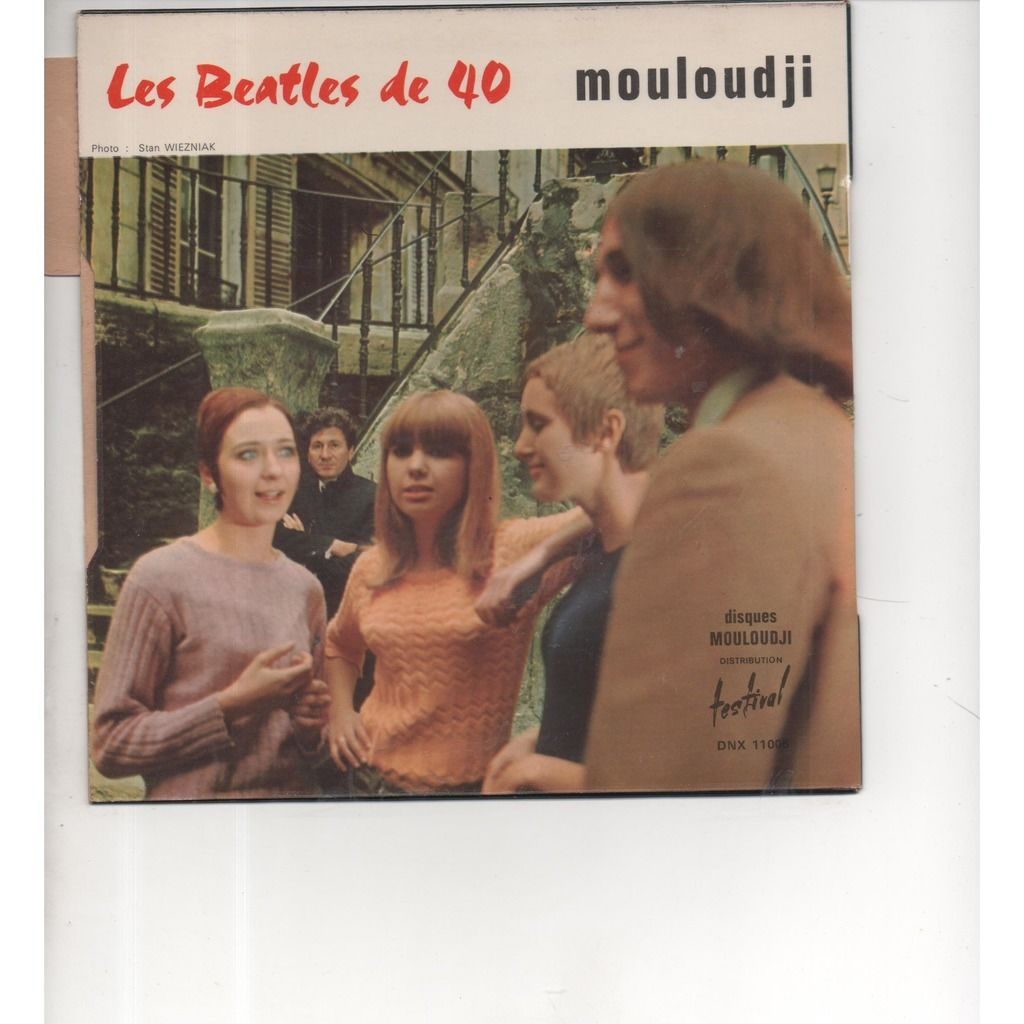 mouloudji pochette avec sa languette le deserteur / les beatles de 40