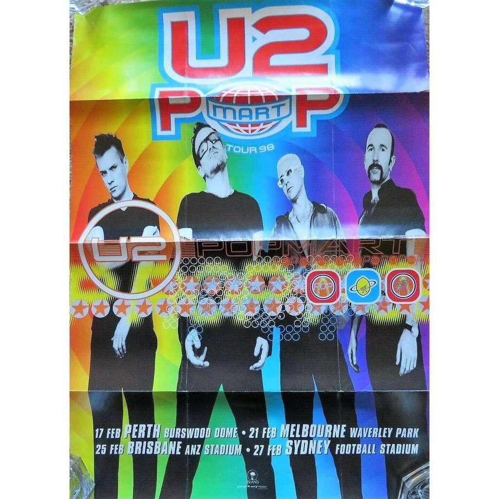 U2 PopMart Australian Tour 1998 (Australia 1998 original 'Island' 'Tour dates' Concert poster!!)