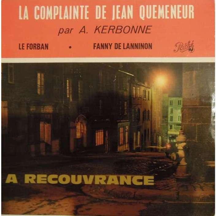 albert kerbonne la complainte de jean quemeneur - verso pochette cartonné