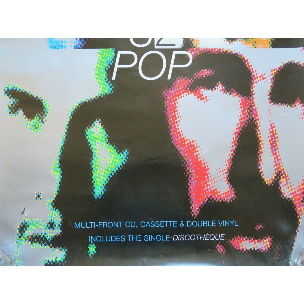 U2 Pop (UK 1997 original Island 'album release' promo shop poster!!)