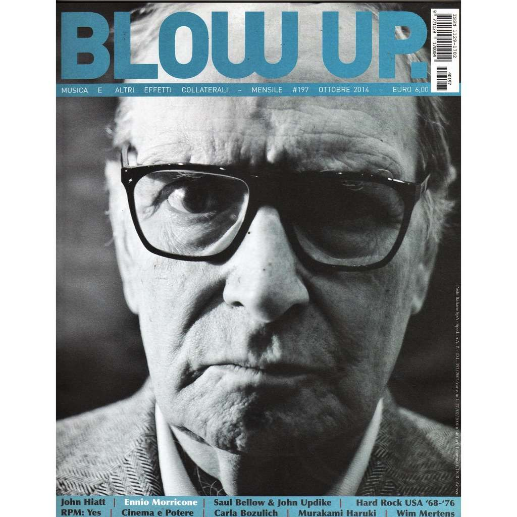 Ennio Morricone Blow Up (N.197 Oct. 2014) (Italian 2014 Ennio Morricone front cover magazine!!)