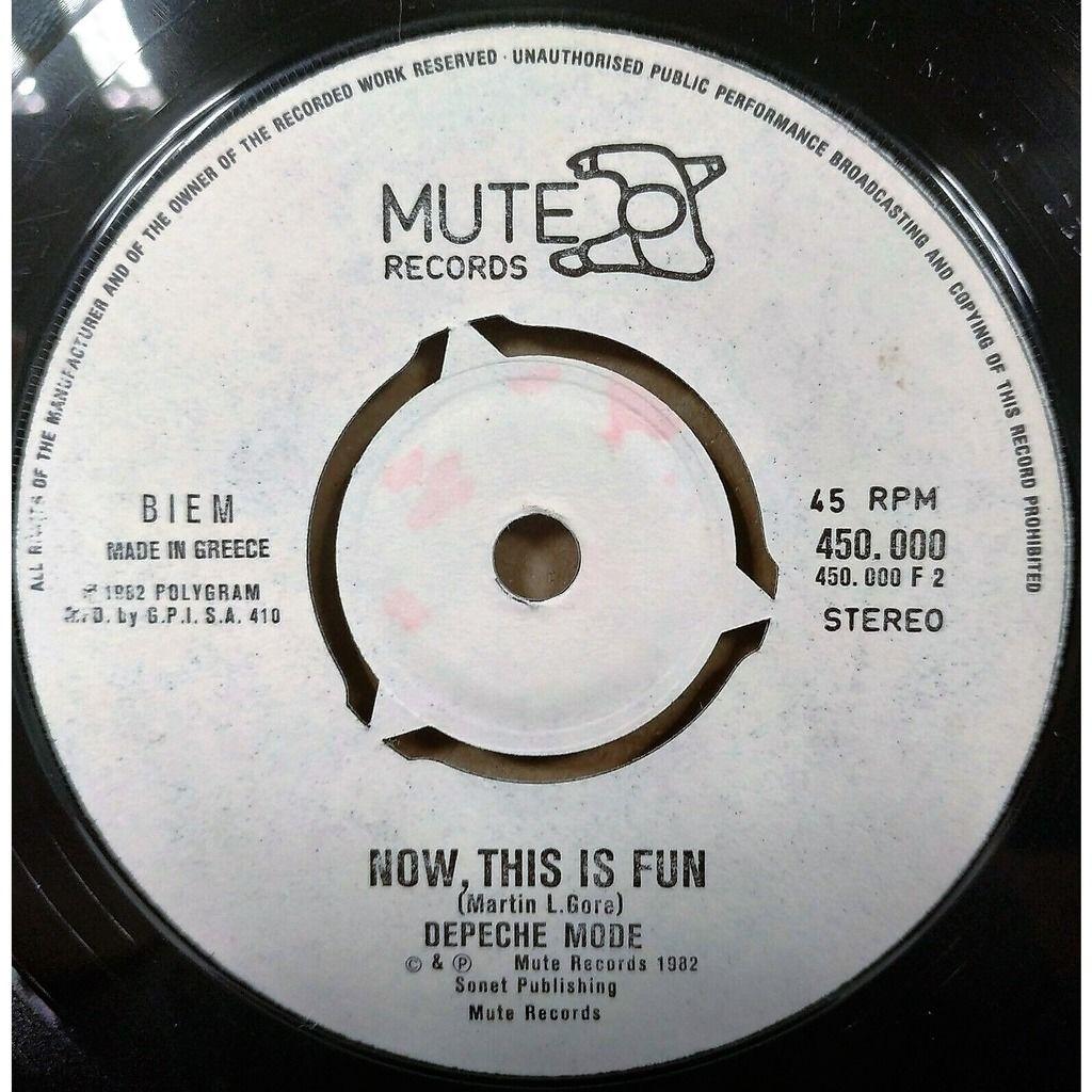 Depeche Mode See You (Greek 1982 original 2-trk 7single on white Mute lbl)