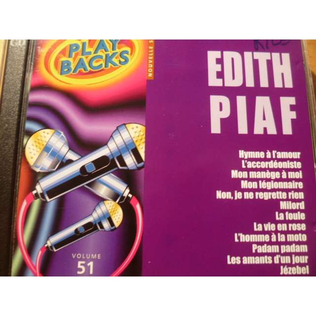 edith piaf play backs , volume 51