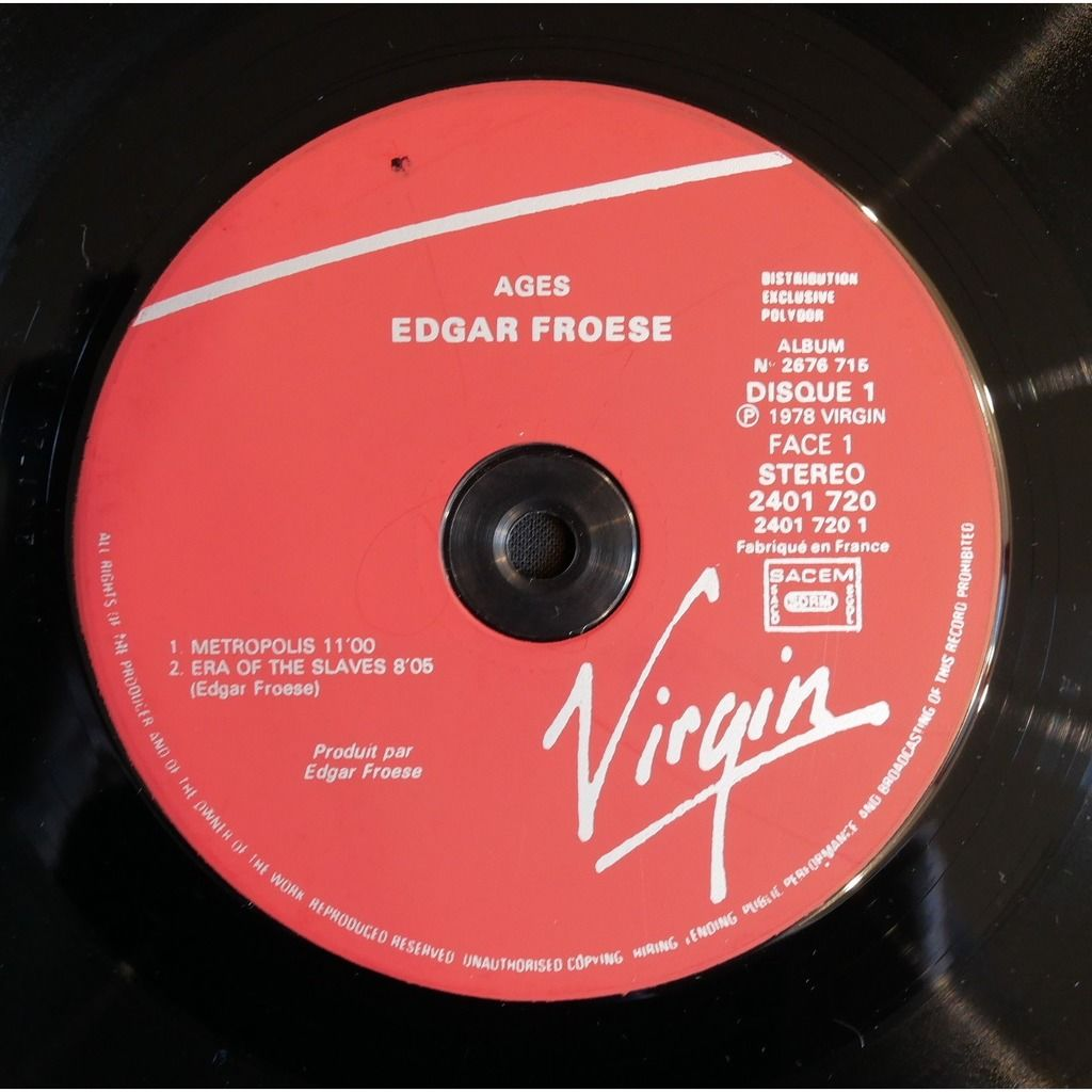 Edgar Froese Ages