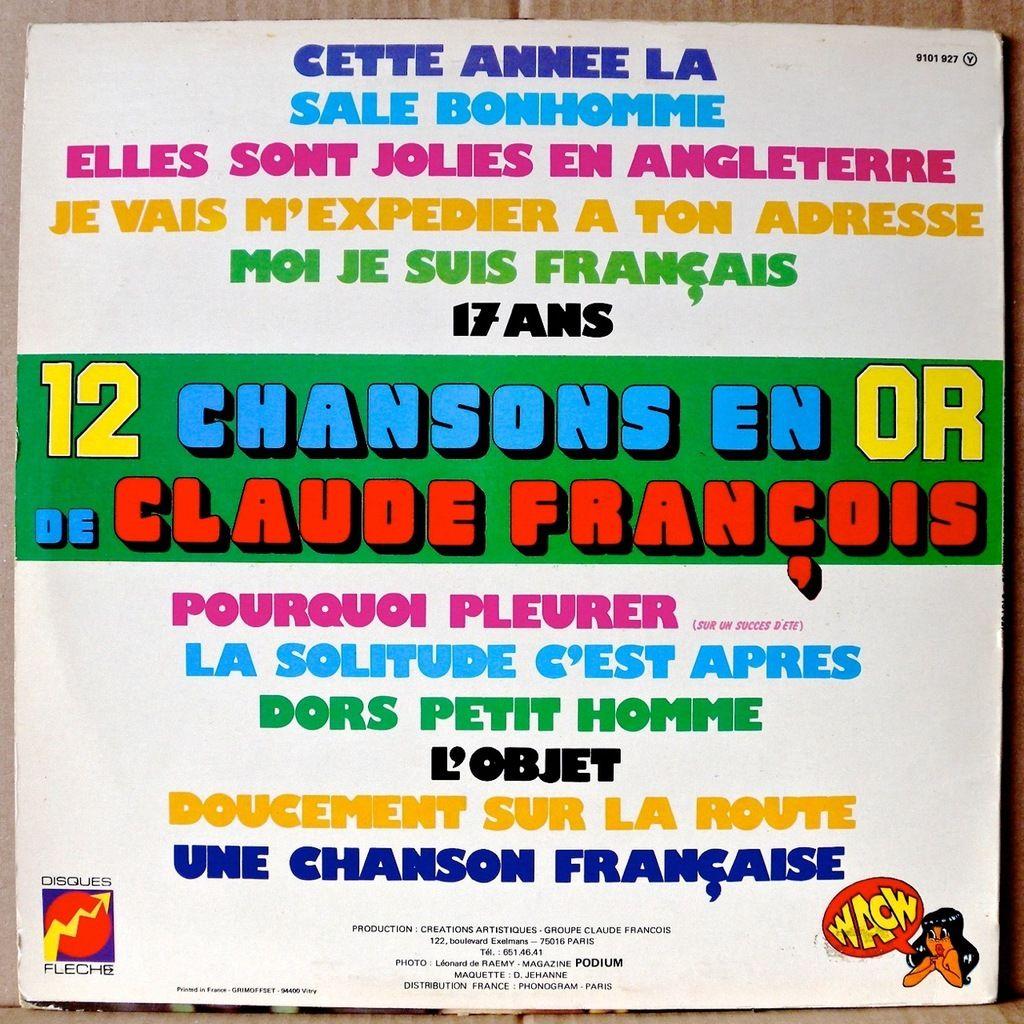 claude françois 12 chansons en or - Vol. 2