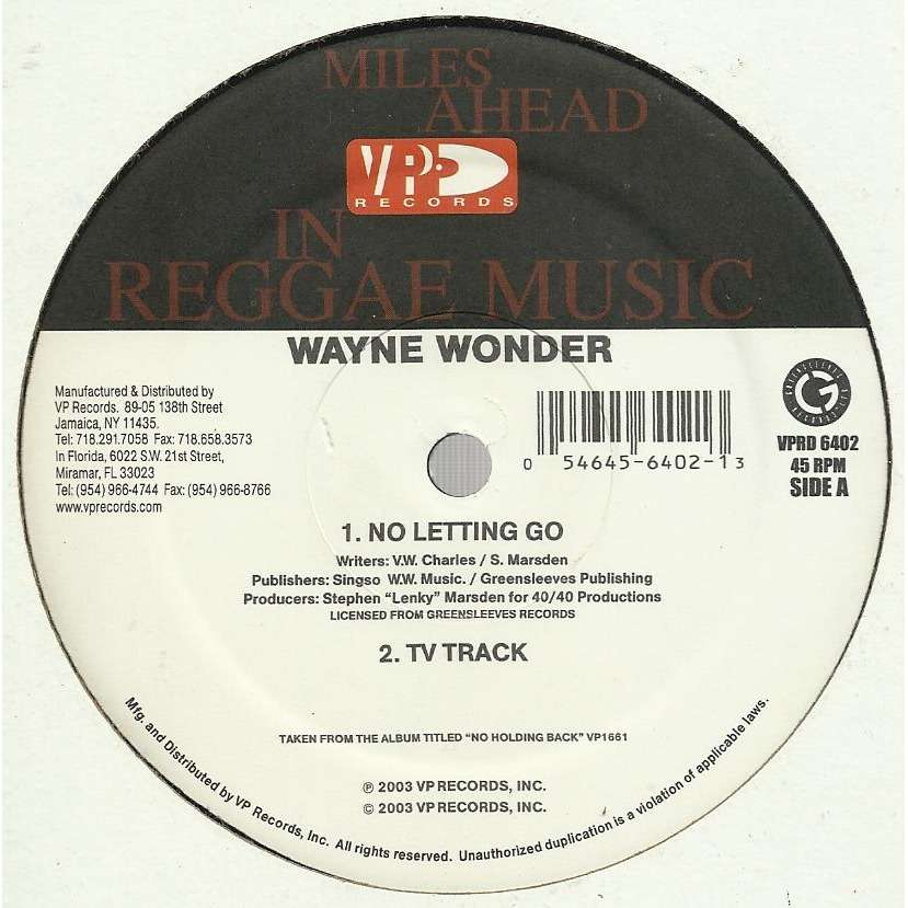 Wayne WONDER no letting go / version / watching you / saddest day