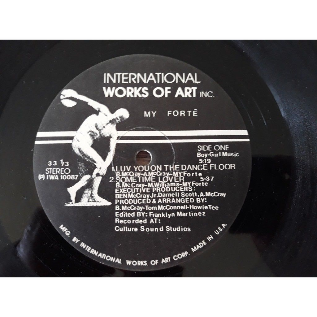 My Forte - Luv You On The Dance Floor / Sometime L My Forte - Luv You On The Dance Floor / Sometime Lover (12)1987
