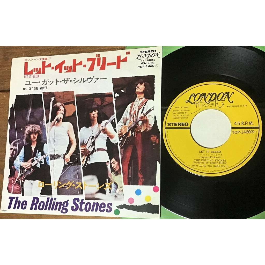 The Rolling Stones Let It Bleed (Japan 1970 original 2-trk 7single unique gf insert ps)