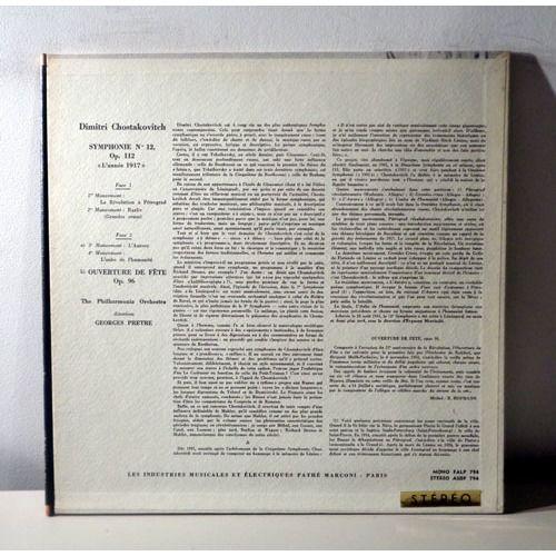 GEORGE PRETRE SHOSTAKOVITCH Symphonie n°12