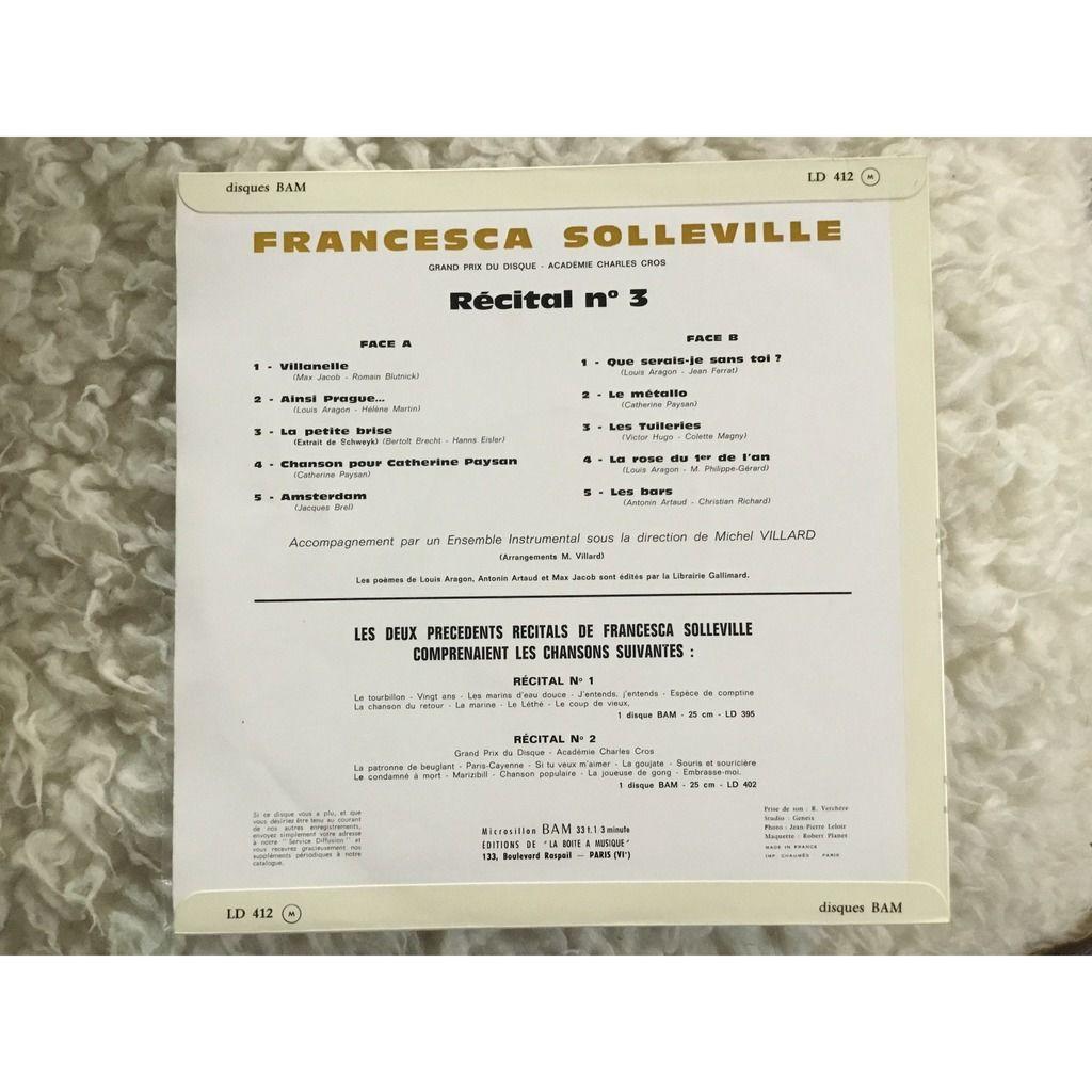 francesca solleville Récital n° 3