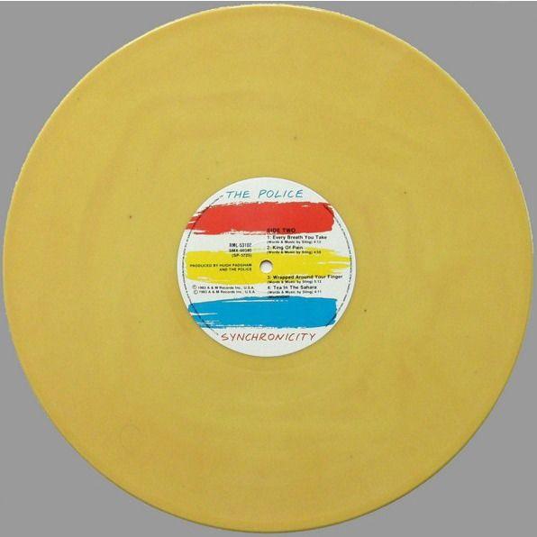 Police Synchronicity (Australia 1984 Ltd 'Tour edition' 10-trk LP YELLOW wax full ps & inner slv!)
