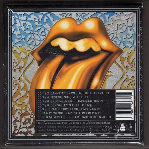 the rolling stones Bridges To Babylon Slight Return (Ltd 400 no'd copies live 14CD Box + booklet!!)