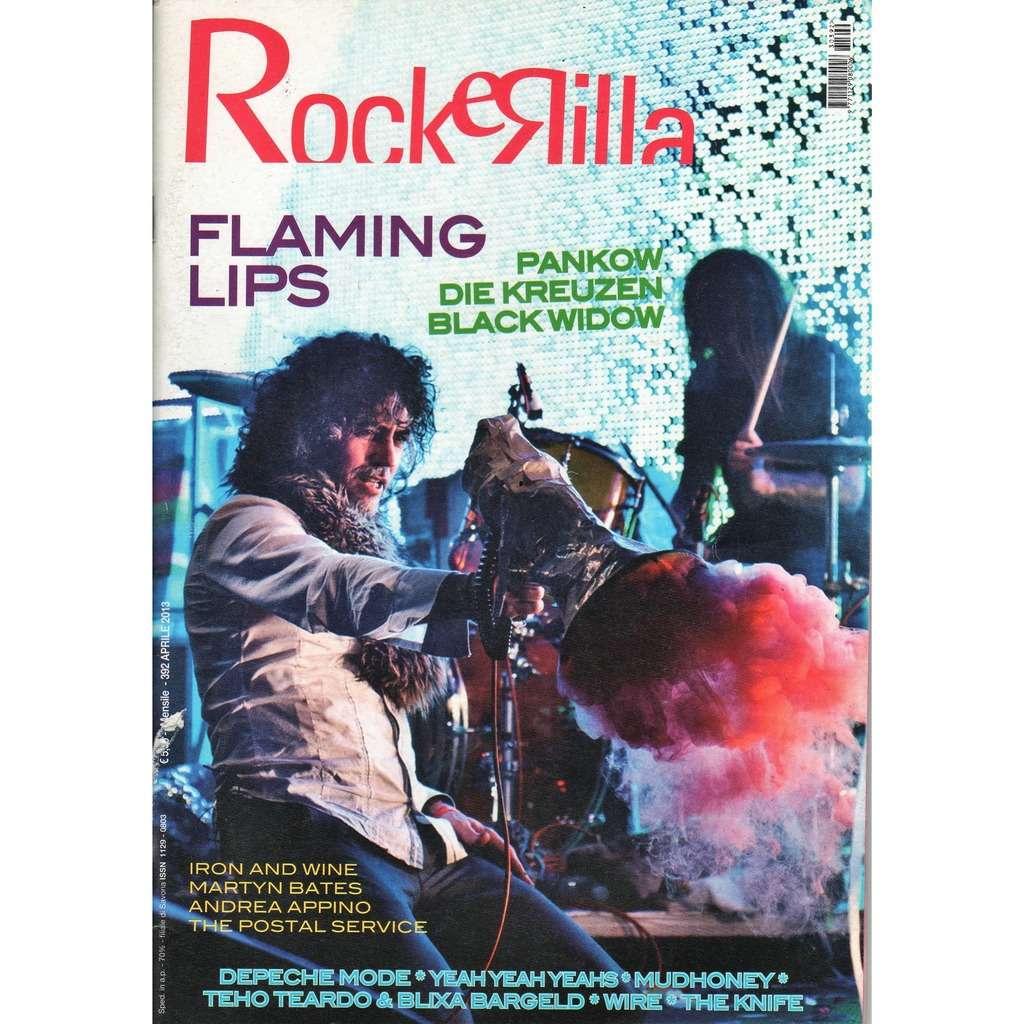 Flaming Lips Rockerilla (N.392 April 2013) (Italian 2013 Flaming Lips front cover music magazine!!)