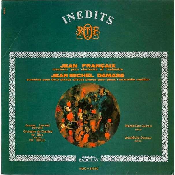 jean michel damase jacques lancelot Françaix: clarinet concerto. Damase: sonatine, piano pieces