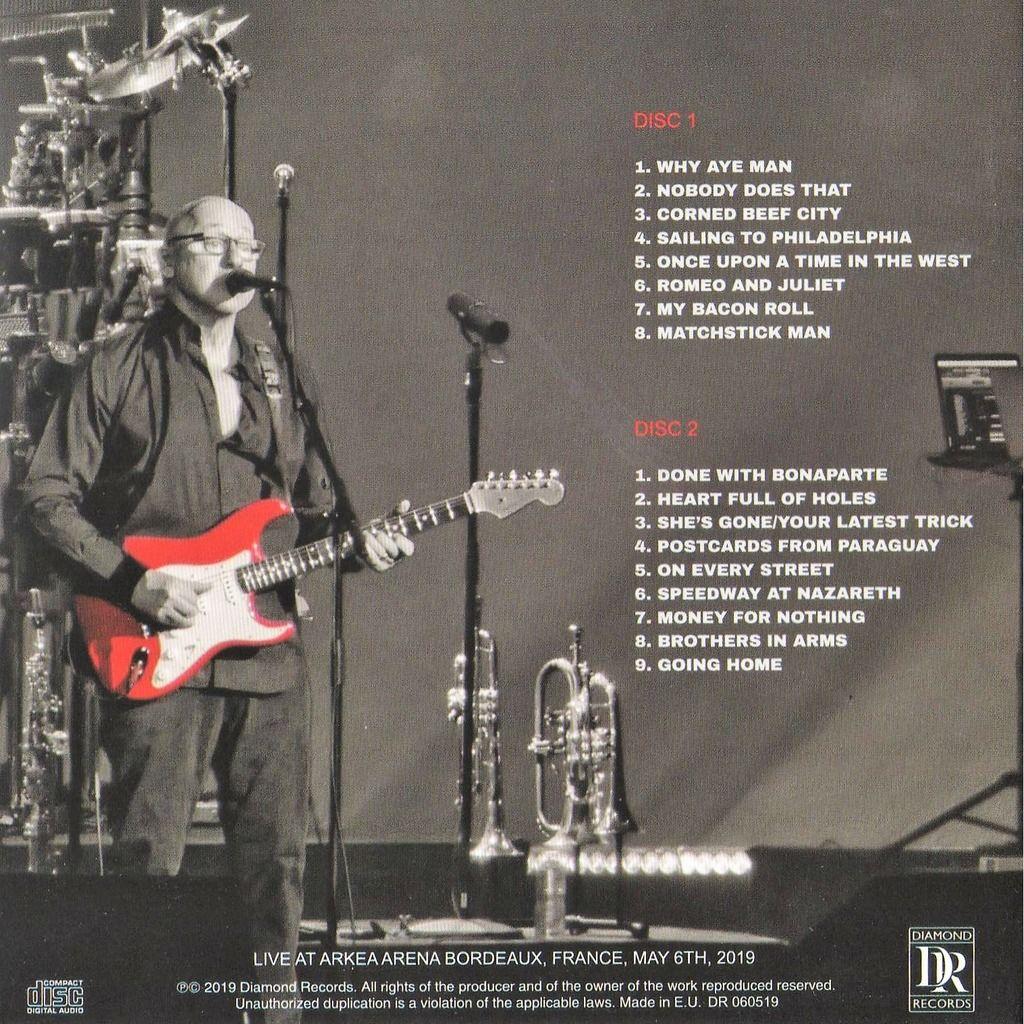 Dire Straits / Mark Knopfler Down The Road Wherever Tour - Live In Bordeaux (Arkea Arena Bordeaux FR 06.05.2019)