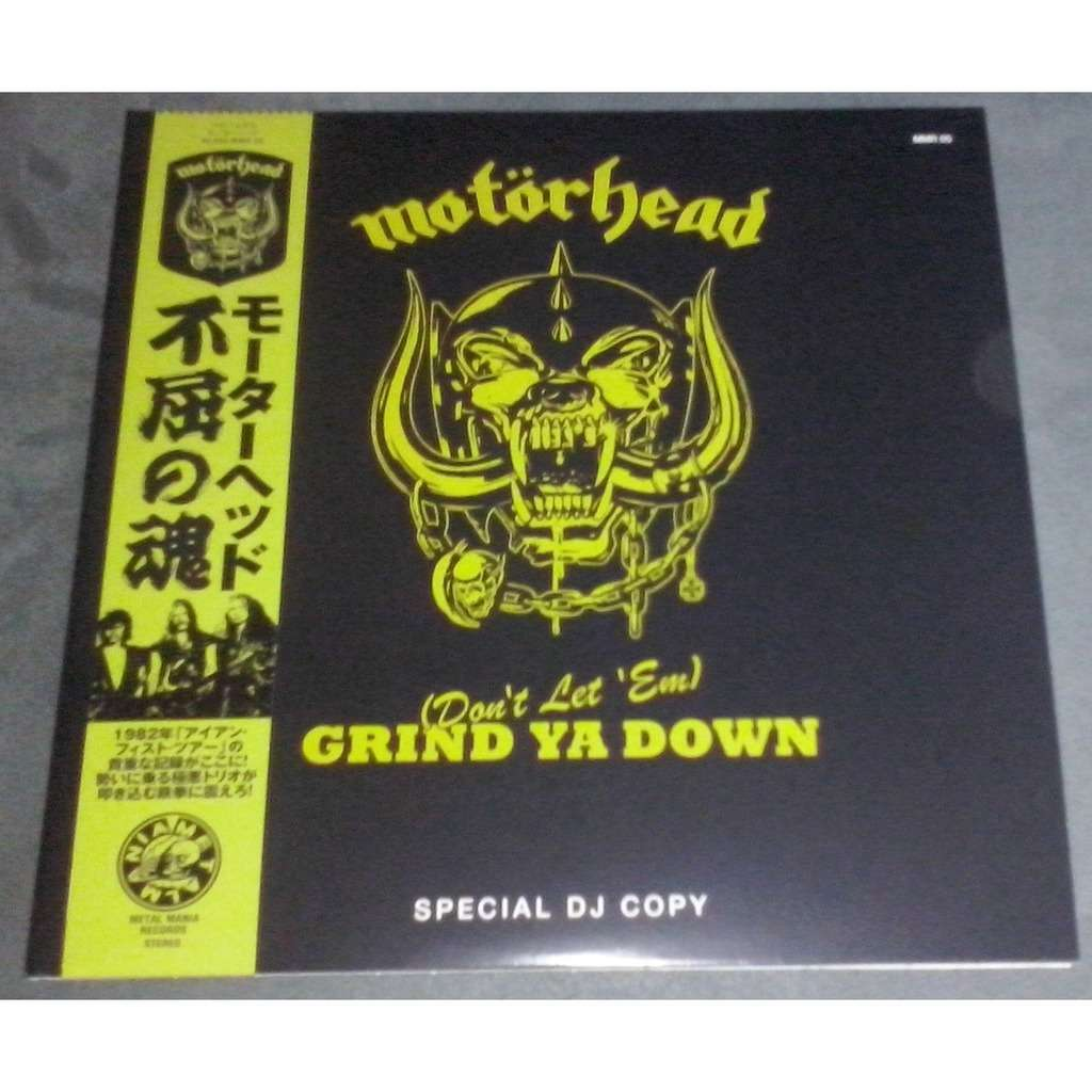 Motörhead (Don't Let 'EM) Grind Ya Down (2xlp) Ltd Edit Gatefold Sleeve With Colour Vinyl -Jap