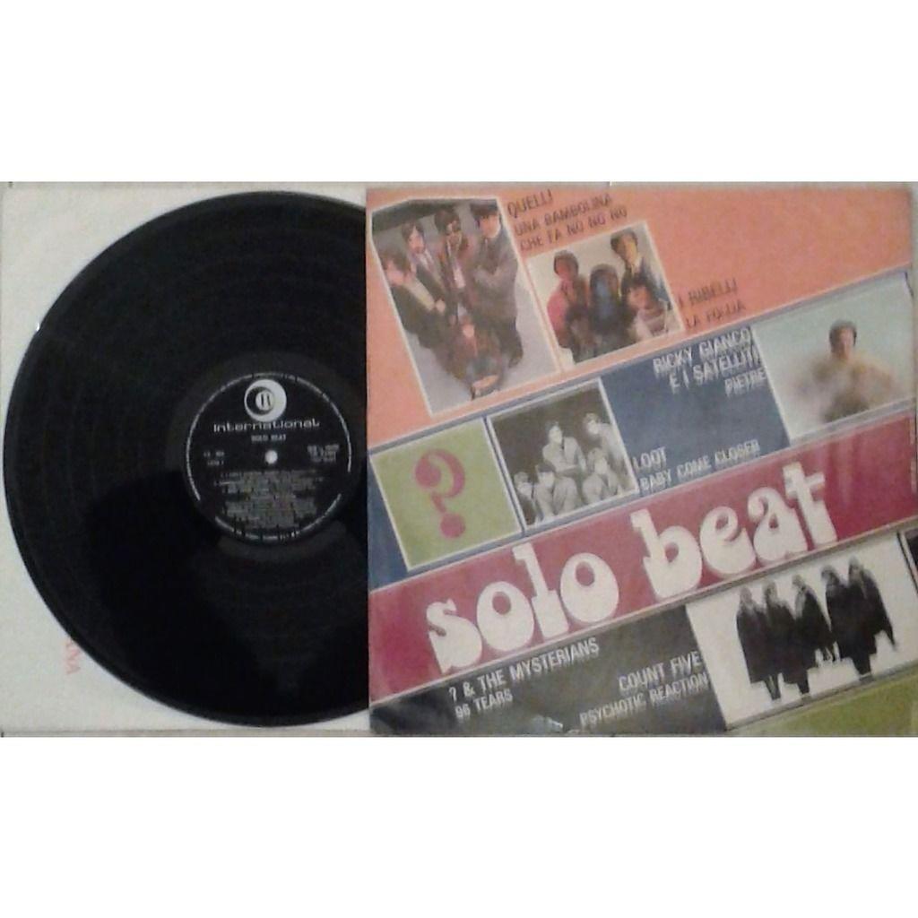 premiata forneria marconi / PFM / Quelli Solo Beat (Italian 1967 original 12-trk V/A LP on Ricordi International lbl unique ps)