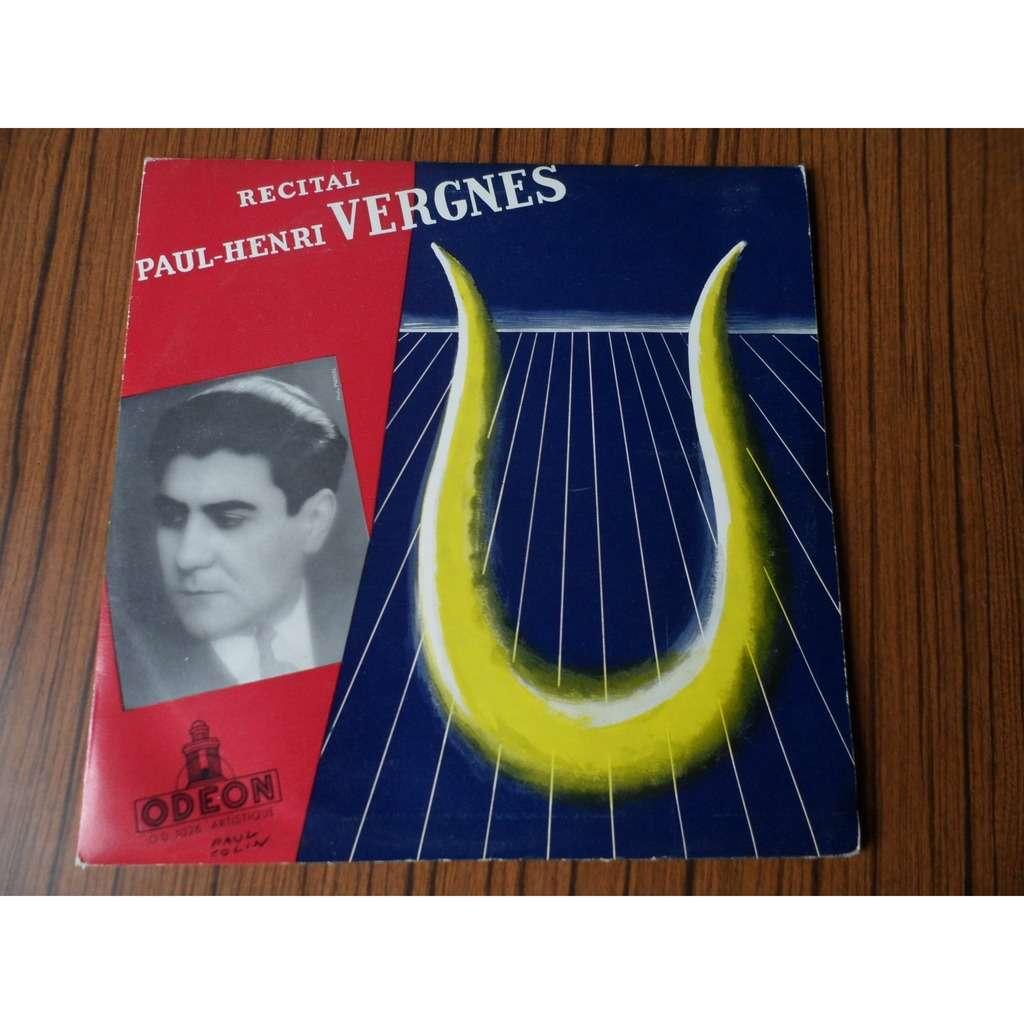 PAUL - HENRI VERGNES recital