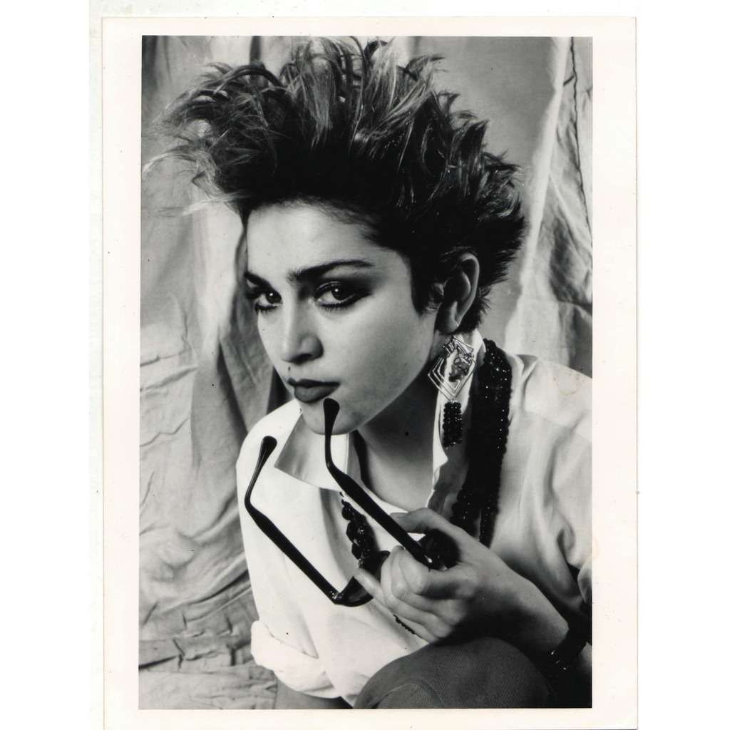 Madonna Madonna #5 (UK 80s original 'London Features' promo photo by Laura Levine with original SLIDE!)