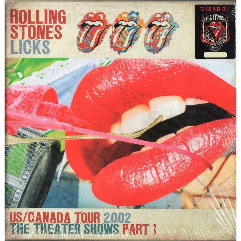 the rolling stones Licks US/Canada Tour 2002-The Theater Shows Part 1 (Ltd 400 no'd copies live 13CD Box + booklet!!)
