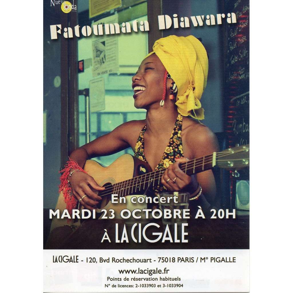 fatoumata diawara flyer concert du 23 octobre 2012 à La Cigale