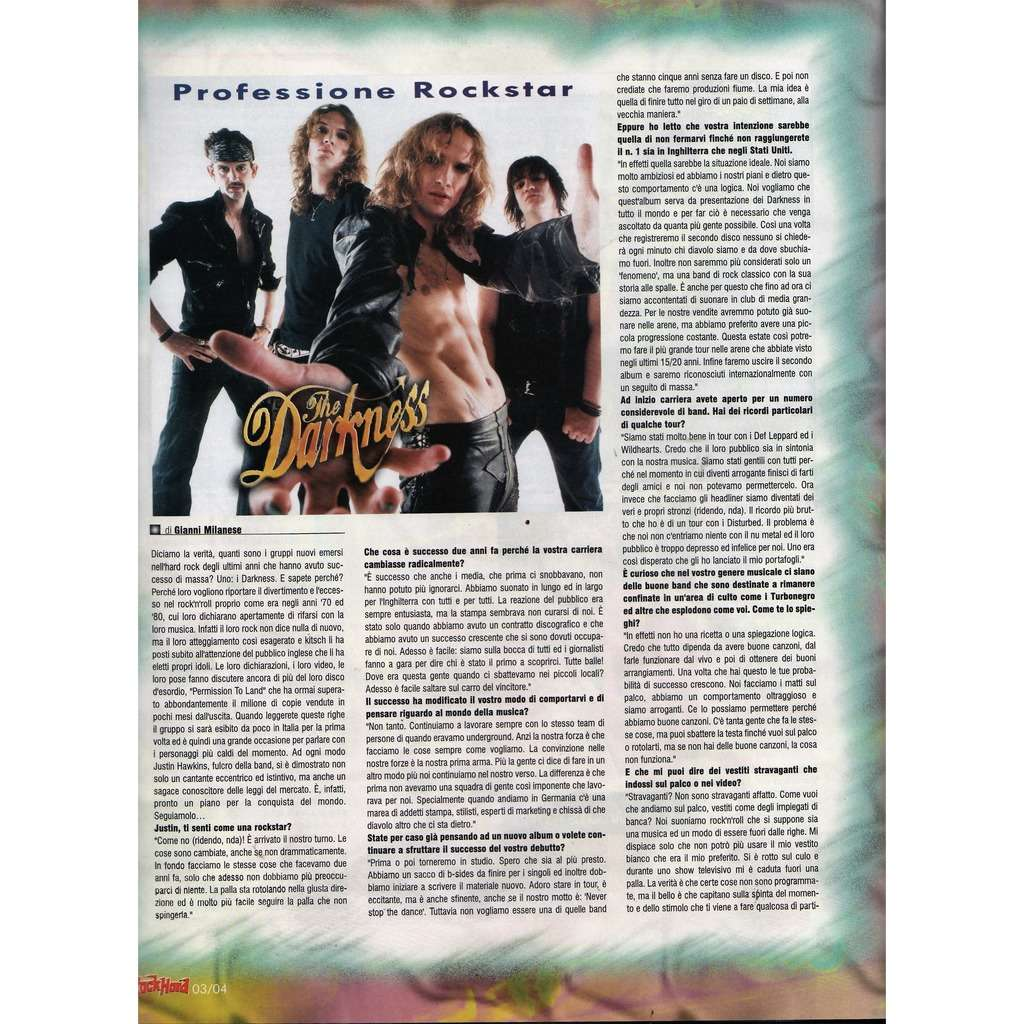 Darkness Rock Hard (N.20 March 2004) (Italian 2004 music magazine!!)