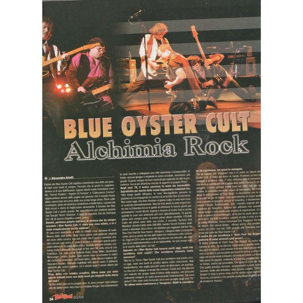 Blue Oyster Cult Rock Hard (N.20 March 2004) (Italian 2004 music magazine!!)
