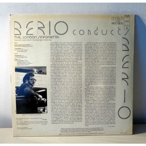 LUCIANO BERIO & LONDON SINFONIETTA BERIO condcuts BERIO Points on the curve to find - Concertino - Chemins IV - Linea