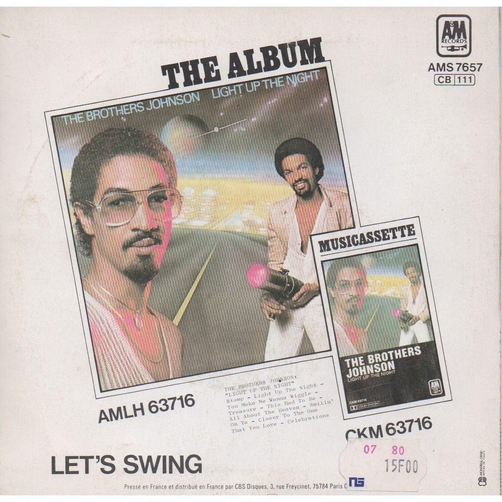 The Brothers Johnson STOMP/LET'SSWING