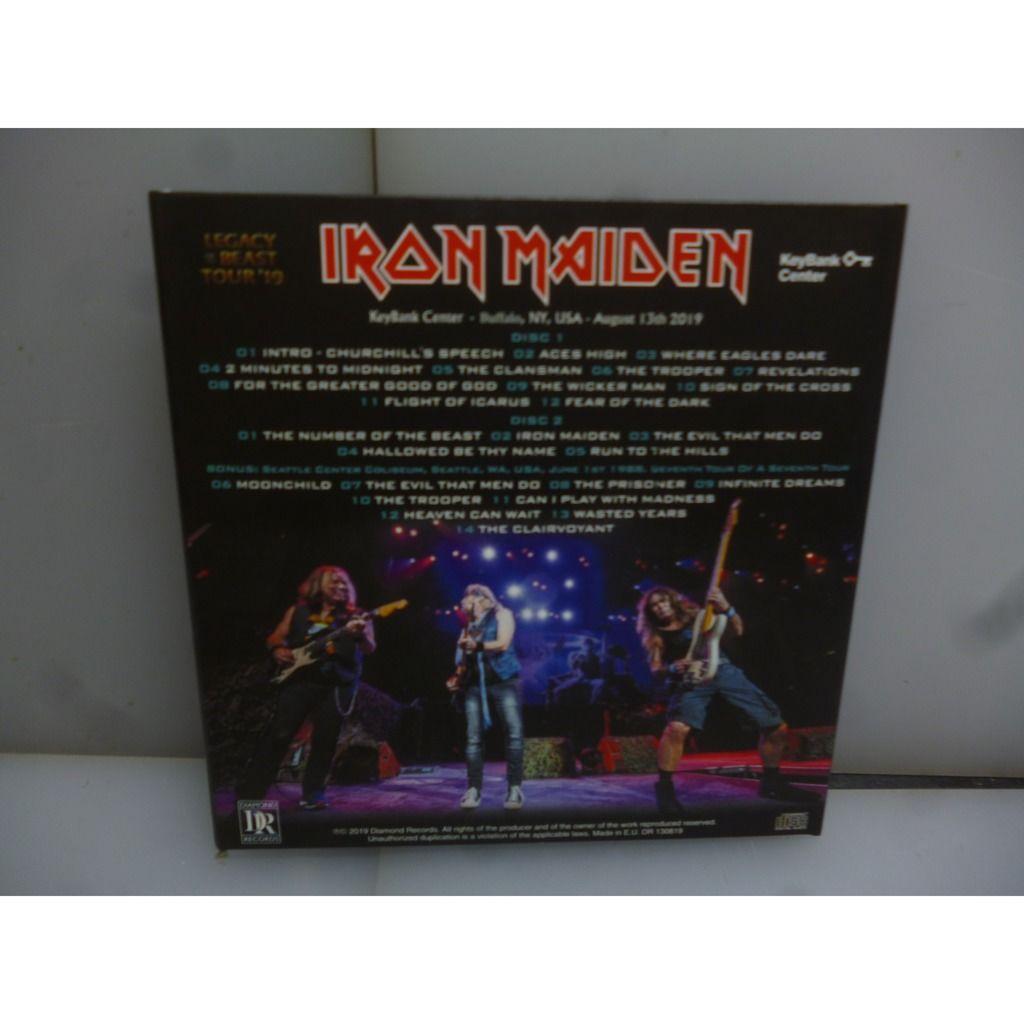 Iron Maiden Legacy Of The Beast Tour 2019. Live in Buffalo. Buffalo, NY, USA 2019. EU 2019 2CD Digipack.