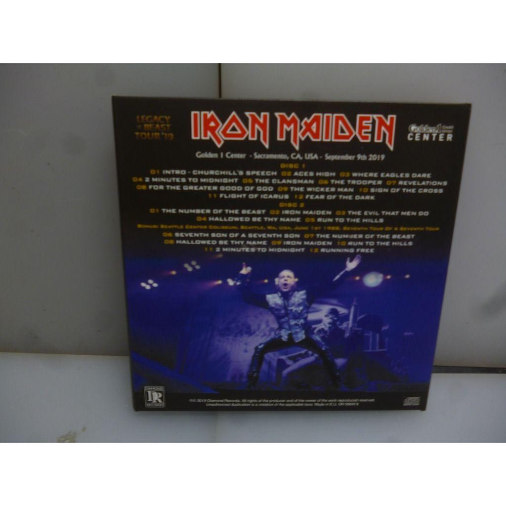 Iron Maiden Legacy Of The Beast Tour 2019. Live in Sacramento. Sacramento, CA, USA 2019. EU 2019 2CD Digipack.