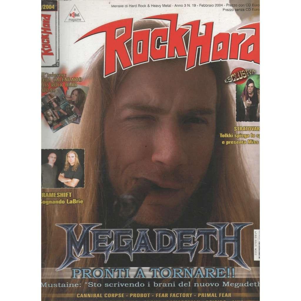 Megadeth Rock Hard (N.19 Feb. 2004) (Italian 2004 Megadeth fromt cover magazine!)