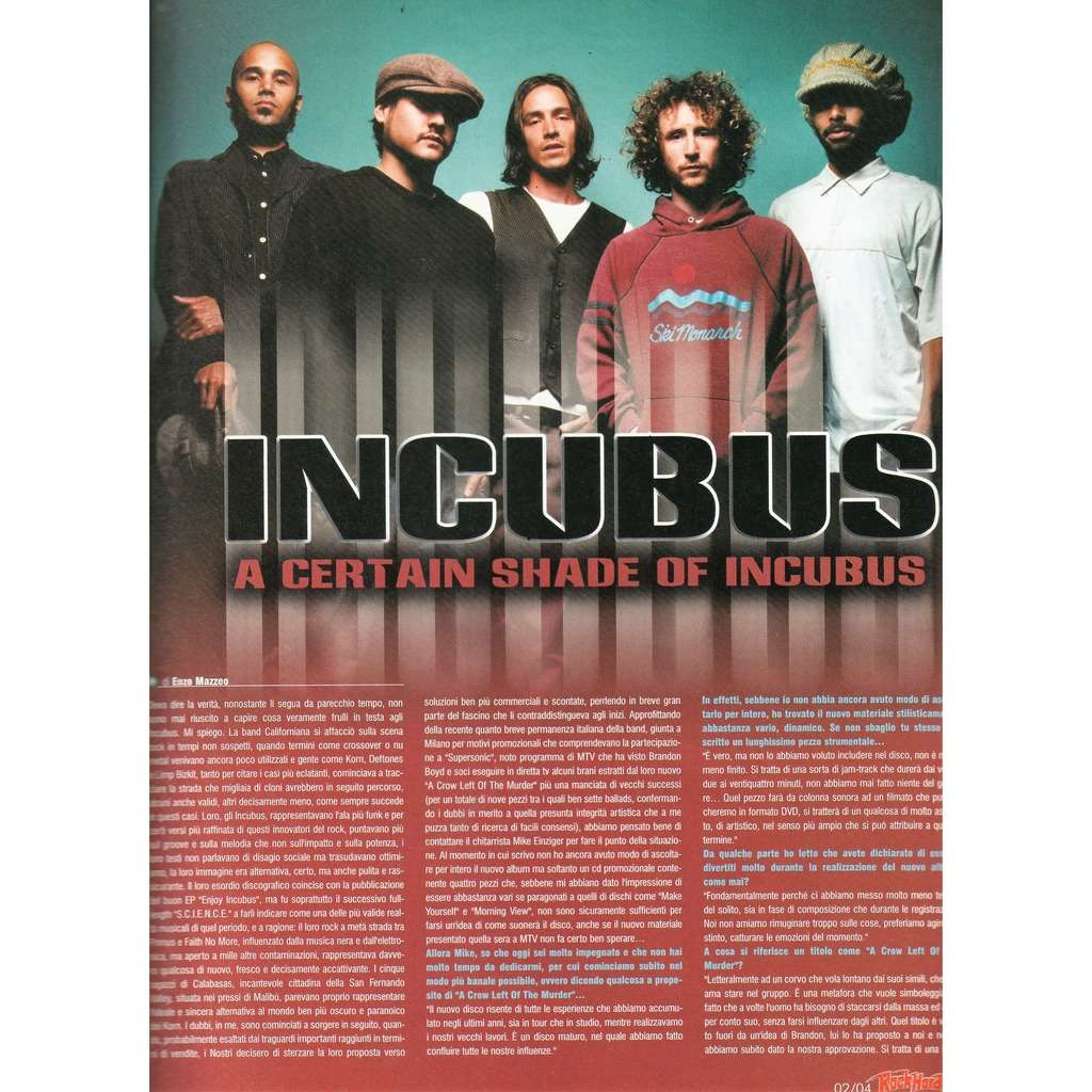 Incubus Rock Hard (N.19 Feb. 2004) (Italian 2004 music magazine!)