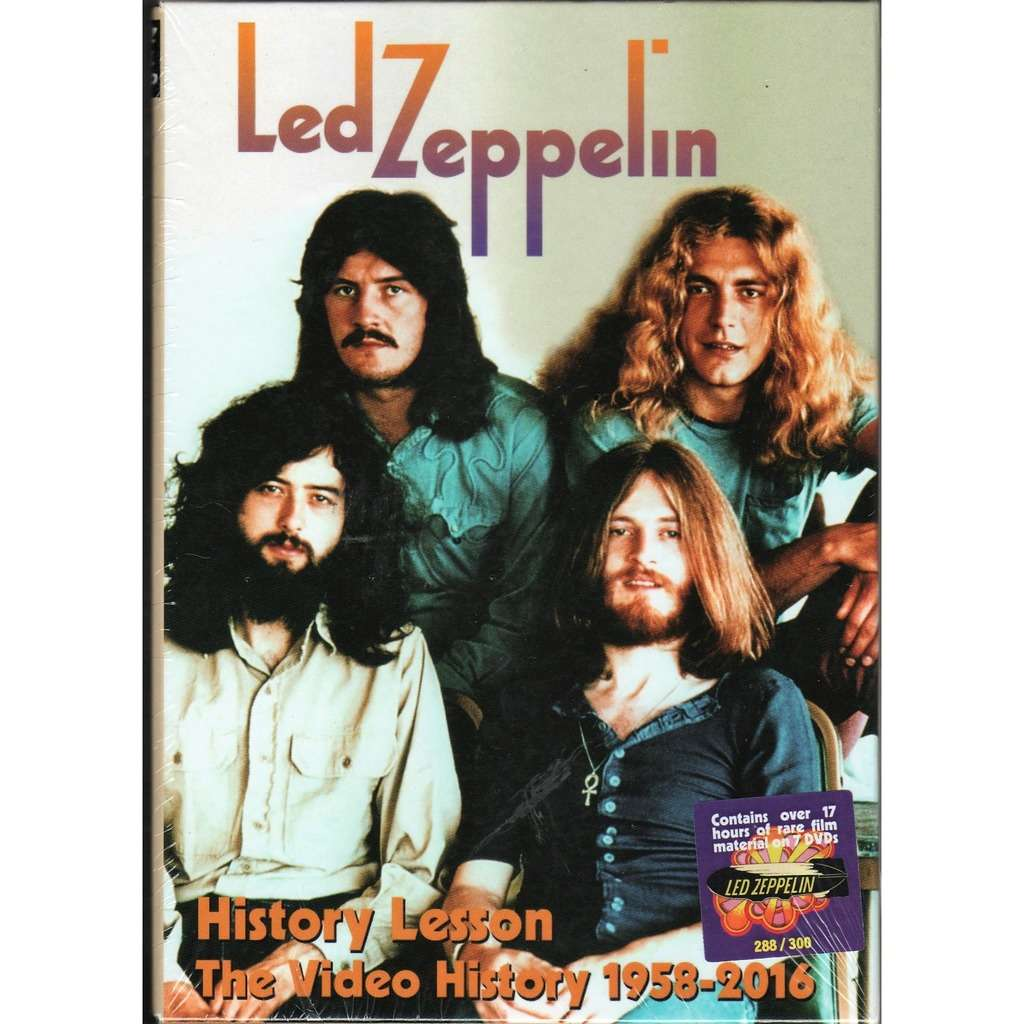 Led Zeppelin History Lesson - The Video History 1958-2016 (Ltd 300 no'd copies live 7DVD box & booklet!)